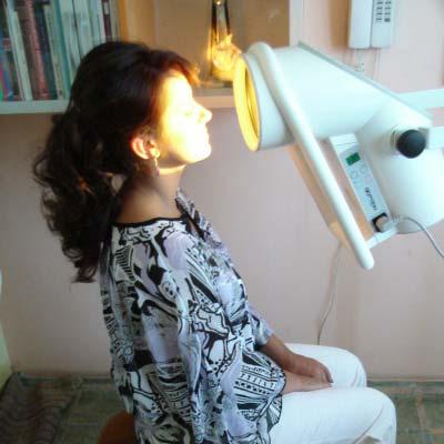 Sedinta de tratament cu lumina polarizata